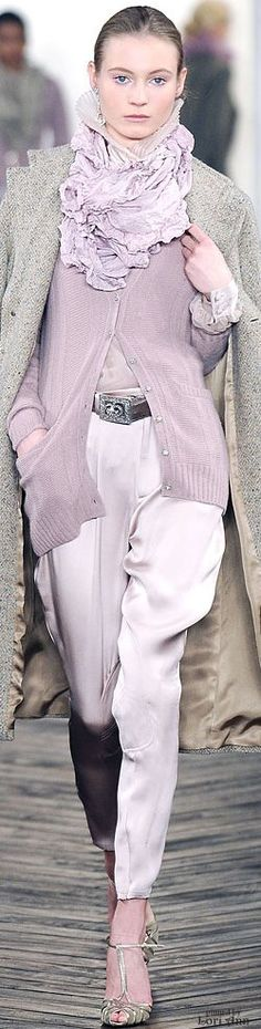Ralph Lauren ~ Fall Lavender Cardigan + Pant 2009