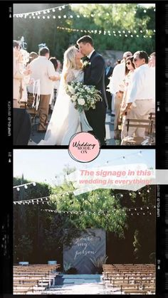 Modern wedding signa