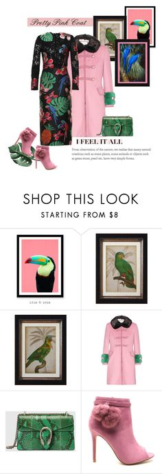 """""""Pretty Pink Coat"""" by vittorio-1 ❤ liked on Polyvore featuring WALL, Gucci and Valentino"""