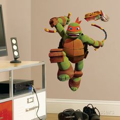 Teenage Mutant Ninja Turtles Mike Peel & Stick Giant Wall Decals Wall Decal at AllPosters.com