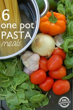 Six One-Pot Pasta Recipes - Get dinner on the table quicker and with less clean up needed.