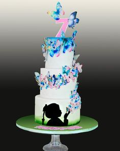 All wafer paper butterflies - Cake by Sandy - Sweet 'n  Sassy