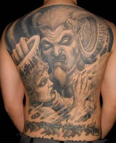 angels and demons tattoos | Published April 30, 2010 at 403 × 500 in angel and demon tattoos