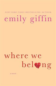Emily's newest book- LOVE! Amazing story about lost connections and facing your reality. #khaydn #books #emilygiffin