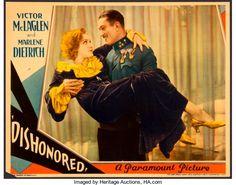 "Movie Posters:Drama, Dishonored (Paramount, 1931). Lobby Card (11"" X 14..."