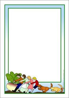 The Enormous Turnip page borders - SparkleBox Page Boarders, Sparkle Box, Stationary Printable, Pretty Writing, Traditional Tales, Photo Frame Design, Scrapbook Frames, Display Banners, School Frame