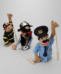 Take a look at this Heroes & Pirate Puppet Set by Melissa & Doug on #zulily today!