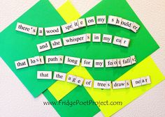 The Daily Magnet #305 Magnetic Poetry; Demagnetize Writer's Block! www.FridgePoetProject.com #writerslife