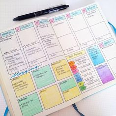 Pin for Later: 24 Pretty Bullet Journals to Inspire Your Own Design Colorful Bullet Journals