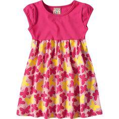 Vestido Infantil Estampa Borboleta Verão Pink - Brandili :: 764 Kids | Roupa bebê e infantil