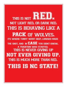 This is NC State.