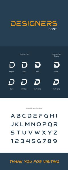 Buy Designers Font by sunnytudu on GraphicRiver. 'Designers Font'is an excellent futuristic font set, Perfect for logo, headline, caption and many more design. Font Design, Graphic Design Fonts, Web Design, Typography Poster Design, Typography Fonts, Lettering Design, Design Art, Italic Font, Identity Design