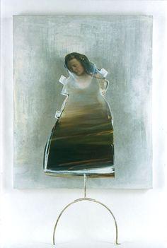 Richard Morin, L'eau vive, 2002, Acrylique et huile sur bois, 203x122cm