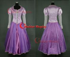 Disney movie Tangled Rapunzel Cosplay Costume purple dress (ver. B) - Custom made in sizes