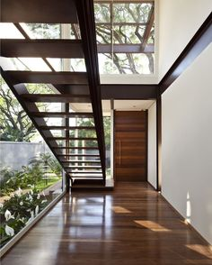 #Residence in #Brazil designed by Vasco Lopes Arquitetura/ Photo by Maira Acayaba. #staircase #d_signers