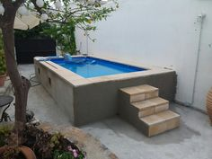 Intex 4.50 x 2.20 Swiming Pool, Small Swimming Pools, Small Backyard Pools, Backyard Pool Designs, Diy Pool, Small Pools, Swimming Pool Designs, Above Ground Pool Landscaping, Above Ground Pool Decks
