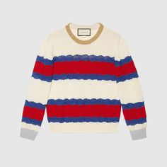Gucci Wool and lace knit top Couture Outfits, Celebrity Outfits, Lace Knitting, Sweaters For Women, Women's Sweaters, Cardigans, Pattern Fashion, Knitwear, Outfits