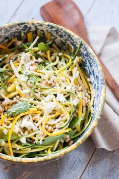 Raw Zucchini and Feta Salad (gf)