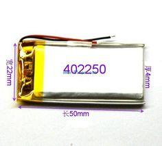 Купить товар3.7 В маленькие игрушки техника MP3 аксессуары MP4 MP3 качество батарея литий полимерная батарея 402250 в категории Аккумуляторы для MP3/MP4 плеерана AliExpress.            Здравствуйте, мы все аккумуляторы имеют нестандартный размер,                            Если вам нужно настр