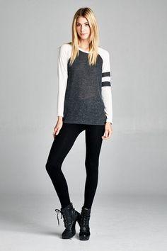 Classic Style Heathered Knit Top Que Tengas Un Gran Día 2f9273c8ef3