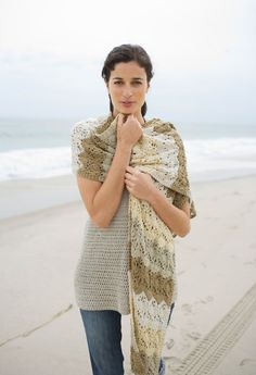 Semi-Tropical Shawl in Lion Brand Cotton-Ease - 90444AD. Discover more Patterns by Lion Brand at LoveKnitting. The world's largest range of knitting supplies - we stock patterns, yarn, needles and books from all of your favourite brands.