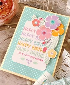 Happy Birthday Card by Melissa Phillips for Papertrey Ink (February 2018)
