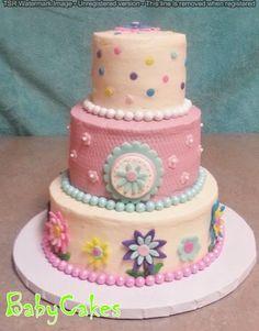 Pastel Flower Birthday Cake