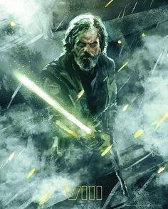 """Luke Skywalker portrait"" Ary by: @christianrosad6 #StarWars #StarWarsVIII #lukeskywalker"