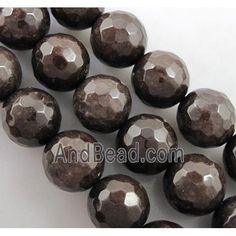 Quartzite stone bead, stability, faceted round, deep coffee dia, approx per st Jade Beads, Stone Beads, Stability, Deep, Coffee, Kaffee, Cup Of Coffee