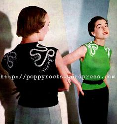 Gratis patroon. The Vintage Pattern Files: 1950's Knitting - 2 ply Embroidered Jumper