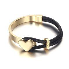 18k gold bracelet, black and gold color