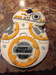 BB8 Cake for my Grandson's Birthday!