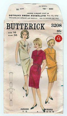 Women's 60's Style Dress Sewing Pattern Sleeveless