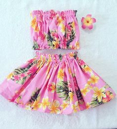 36 New Ideas For Party Outfit College Hawaiian Luau Outfits, Themed Outfits, Kids Outfits, Party Outfits, Toddler Skirt, Baby Skirt, Hawaiian Party Outfit, Hawaiian Outfits, Little Girl Dresses