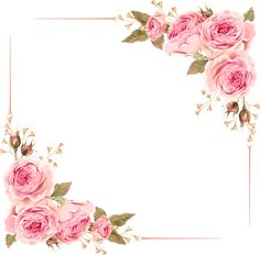 Simple hand-drawn Rose border , Rose, Pink Roses, Rose Frame PNG Image and Clipart