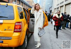 6. All #White - Fabulous #Street Style #Photos from New York #Fashion Week Fall 2015 ... → Fashion #Jacket