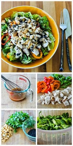 I love this Leftover Chicken Asian Chopped Salad that uses a few carefully selected ingredients to make a salad with big flavors. [from Kalyn's Kitchen] #Summer #Salad #GlutenFree #LowCarb #CanBePaleo