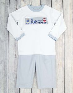 Smocked All Aboard Pant Set – Stellybelly