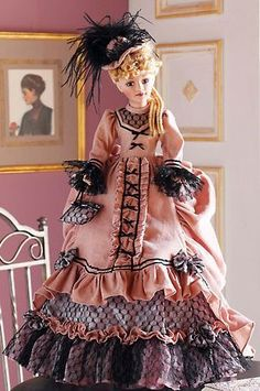 Victorian Dolls, Victorian Era, Victorian Fashion, Dollhouse Dolls, Miniature Dolls, Celebrity Barbie Dolls, Disney Animator Doll, Barbie Doll Accessories, China Dolls