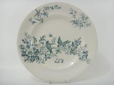 フランス アンティーク皿 鳥 MIGNON LONGWY製 NO2