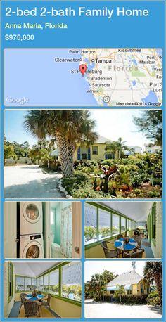 2-bed 2-bath Family Home in Anna Maria, Florida ►$975,000 #PropertyForSaleFlorida http://florida-magic.com/properties/34603-family-home-for-sale-in-anna-maria-florida-with-2-bedroom-2-bathroom