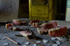 Verden Psychiatric Hospital What's creepier than abandoned dentures in a mental asylum.