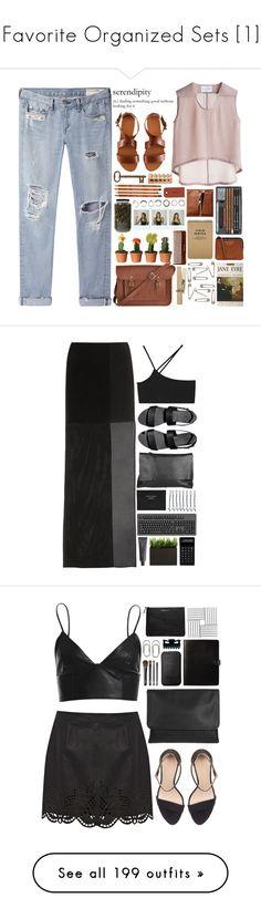 """Favorite Organized Sets [1]"" by chezamanda ❤ liked on Polyvore featuring rag & bone/JEAN, The Cambridge Satchel Company, Bruno Pieters, H&M, Jayson Home, Iosselliani, Polaroid, (MALIN+GOETZ), Acne Studios and Tag"