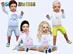 Maxis Match Base Game Recolor Found in TSR Category 'Sims 4 Toddler Female' Toddler Cc Sims 4, Toddler Boys, Toddler Stuff, Toddler Outfits, Kids Outfits, Sims 4 Clothing, Clothing Sets, Sims 4 Cc Makeup, Sims Resource