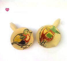 Vides poches décor oiseaux Vallauris 1950