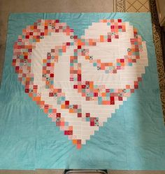 Scrappy Quilt Patterns, Heart Quilt Pattern, Scrappy Quilts, Cute Quilts, Baby Quilts, Heart Quilts, Patch Quilt, Quilt Blocks, Quilting Projects