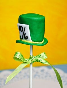 Alice in Wonderland party - Mad hatter pop - marshmallows might make this easy?