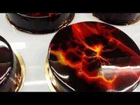 Mirror Glaze Craze! Marbled Effect... - Cakerschool