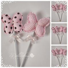 Jolis papillons I can see this as a part of the welcome and congrats for the baby bouquet! Felt Crafts, Fabric Crafts, Sewing Crafts, Diy And Crafts, Sewing Projects, Projects To Try, Arts And Crafts, Pencil Toppers, Felt Patterns