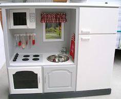 Il était une fête: Transformer un meuble tv en cuisinière pour enfant !